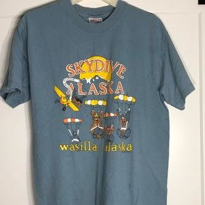 Vintage Jim Gleason Skydive Alaska T Shirt Medium